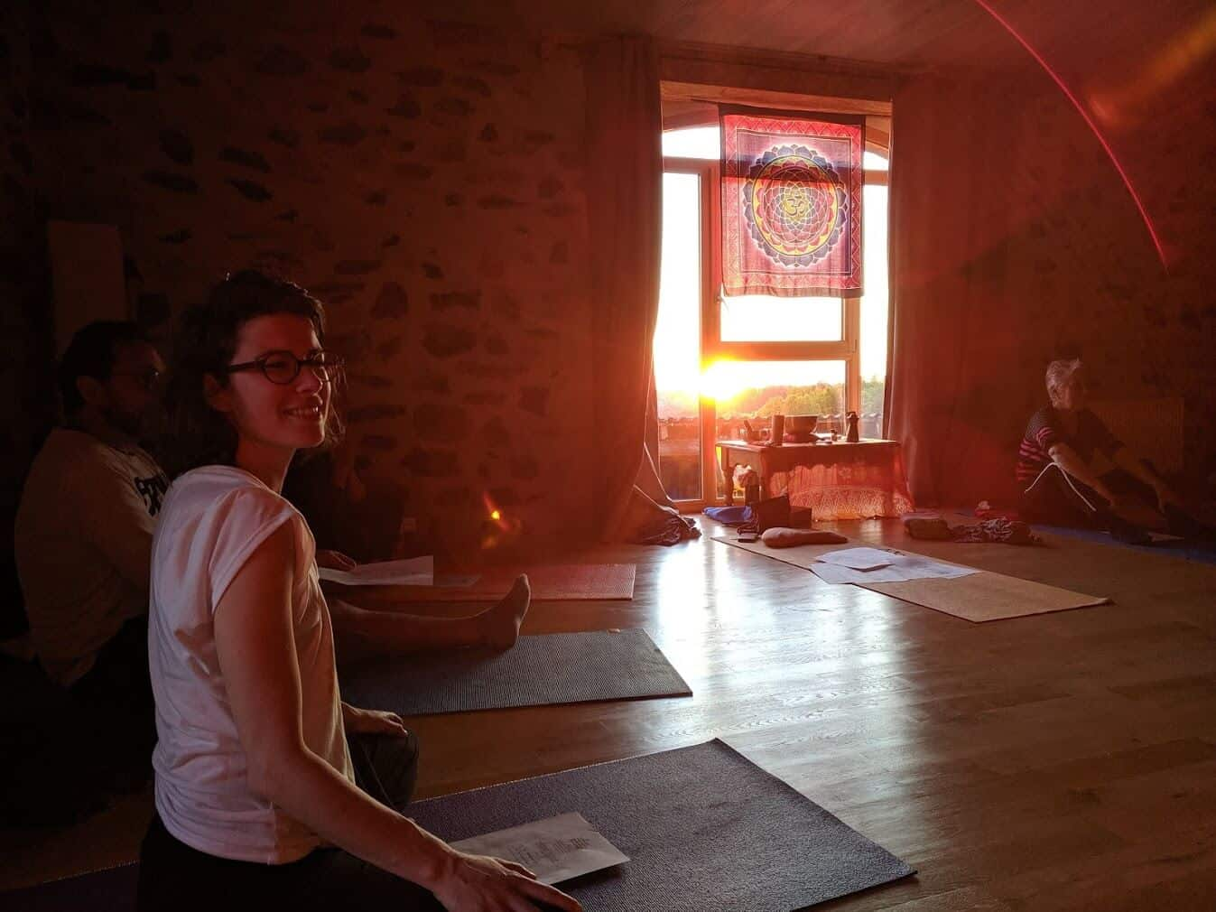 Atelier Yoga au couché du soleil