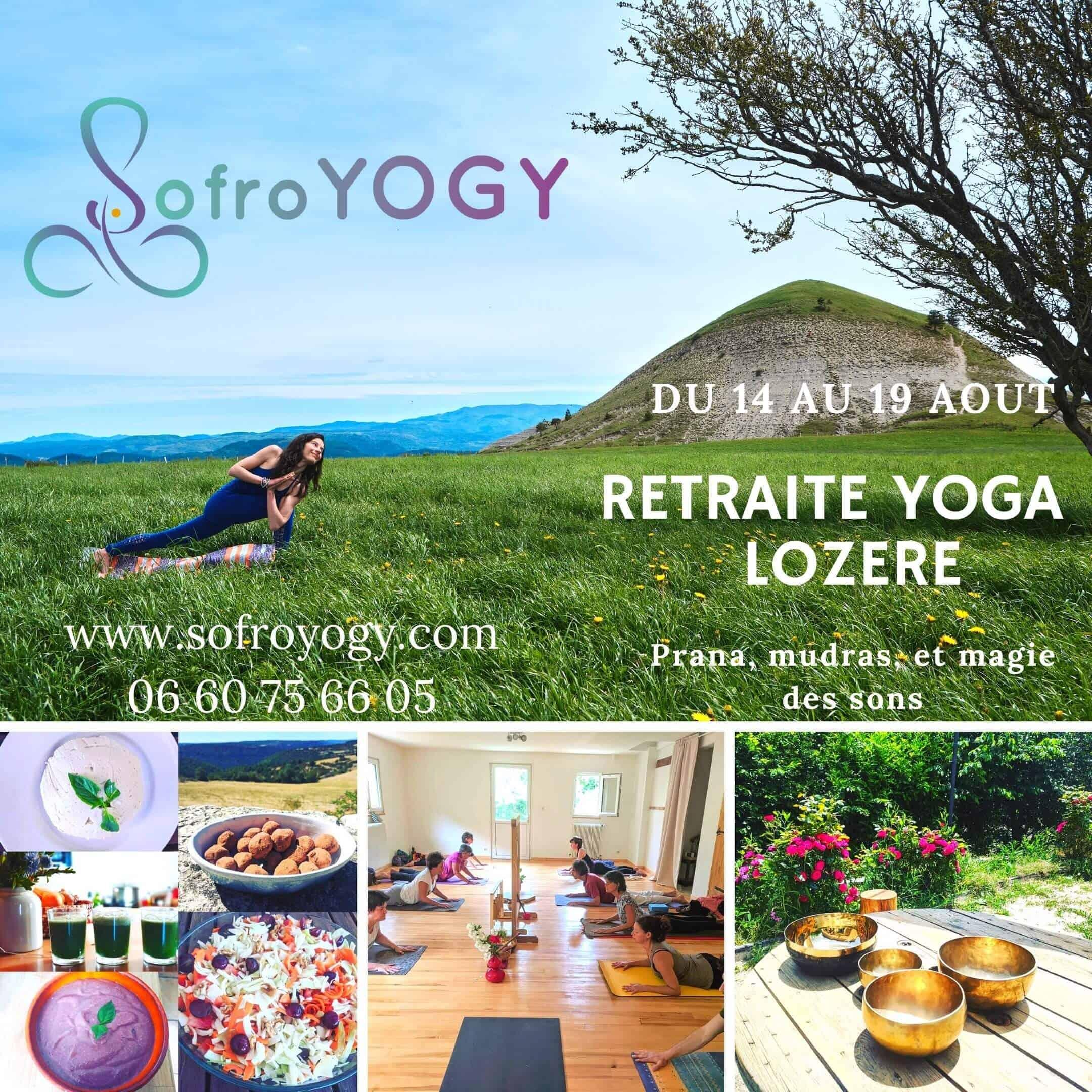 affiche de le retraite d'été Yoga